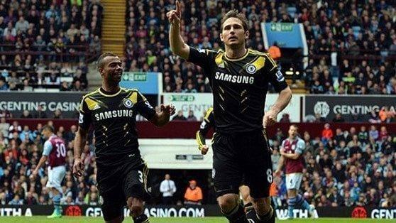 Lampard celebra su segundo gol de hoy | THE SUN