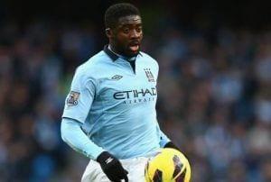 Kolo Touré en su última temporada con el Manchester City.