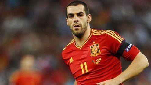 Negredo, en un partido con España