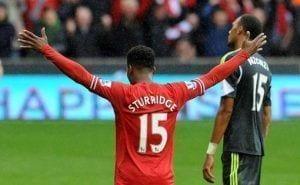 Sturridge celebrando su gol.