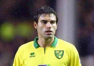 Garrido en un partido de la temporada pasada con el Norwich.