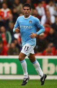 Garrido durante su estancia en el equipo de Manchester.