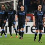 La decepción entre los jugadores del City tras ser eliminados.