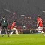 Manchester United durante un partido en la pasada Champions League.