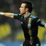 Valbuena celebra un gol en la última participación en Champions del Marsella.