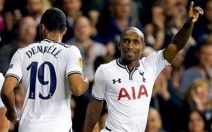 Defoe celebra el primer gol   TELEGRAPH