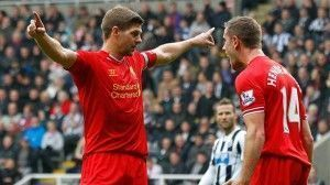 Gerrard celebra su gol 100   EUROSPORT