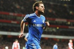 Juan Mata celebra su gol | The Mirror