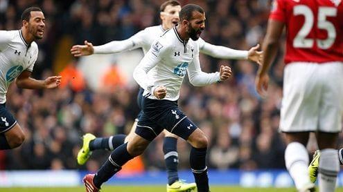 Sandro celebra el golazo que supuso el 2-1
