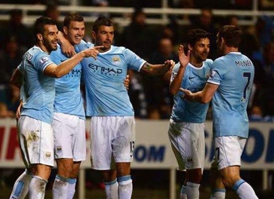 Edin Dzeko Manchester City v Newcastle United