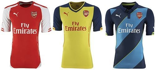 Así vestirá el Arsenal en la 2014-2015 | Home & Away kit