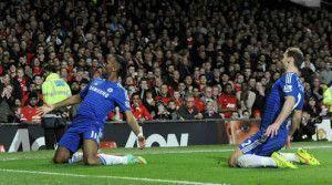 Drogba celebra el 0-1