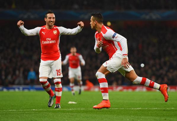 Alexis celebra el segundo gol del Arsenal