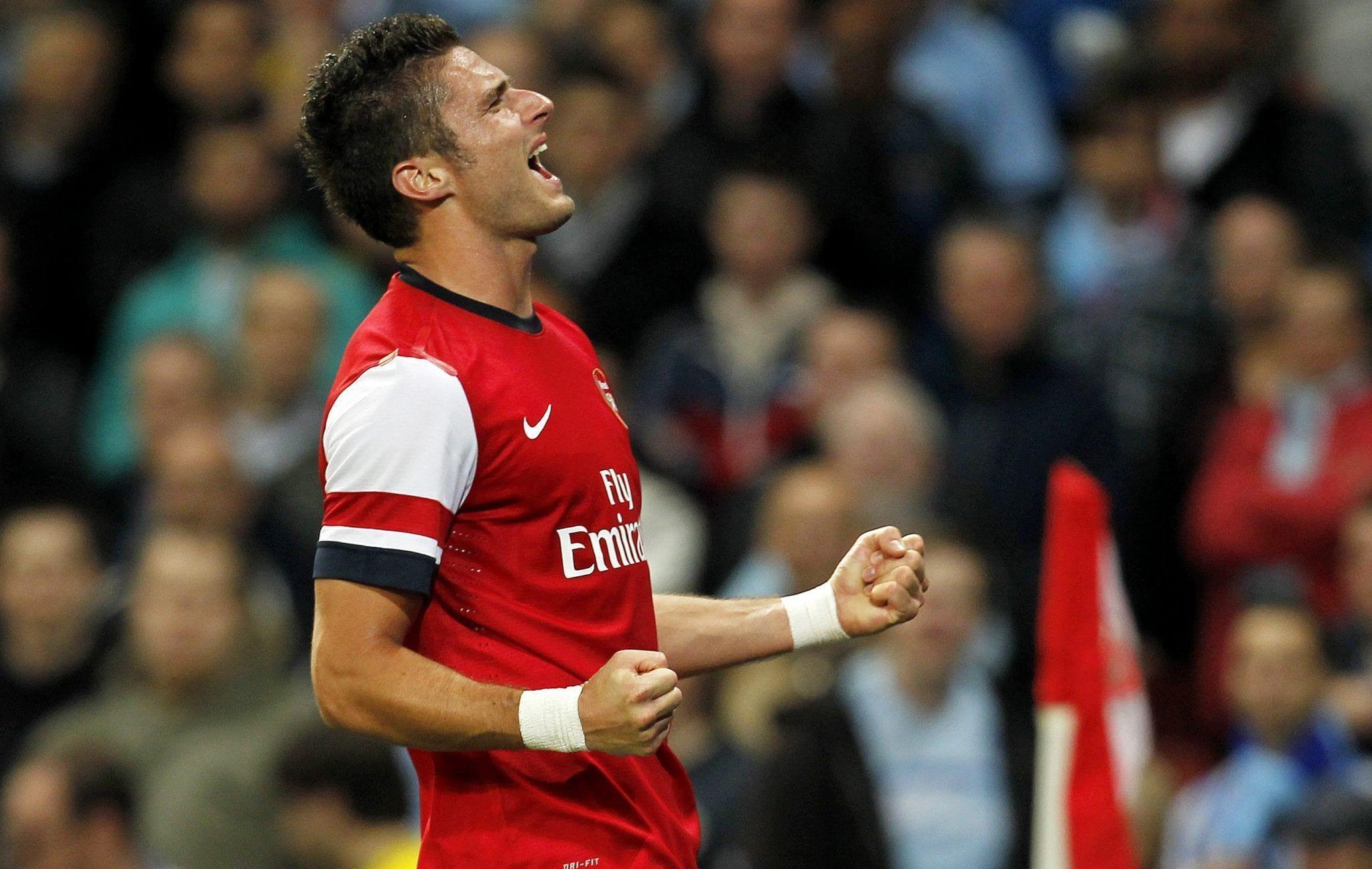 Giroud, con el cuarto promedio goleador de los centenarios del Arsenal