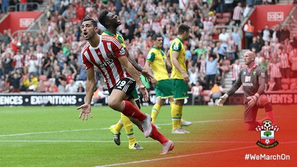 Primera victoria del Southampton a costa del Norwich City