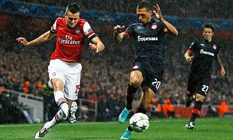 Los cara a cara entre Arsenal y Olympiacos