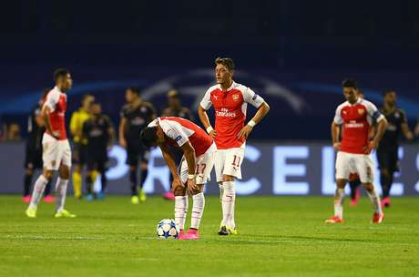 during the UEFA Champions League Group F match between Dinamo Zagreb and Arsenal at Maksimir Stadium on September 16, 2015 in Zagreb, Croatia.