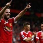 Juan Mata celebra el 3-0