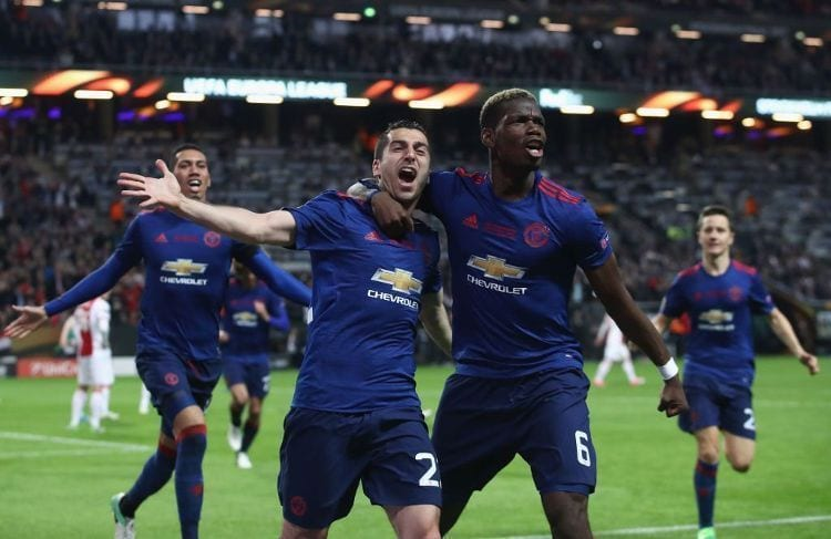 Mkhitaryan manchester united ajax europa league