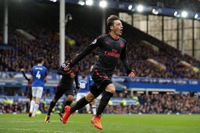 Mesut Ozil Arsenal Everton
