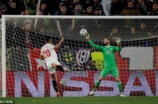 David de Gea salva al United en el Pizjuán